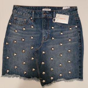 Good American jean mini skirt sz 8/29 [772]